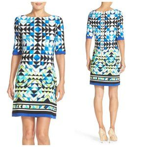 ELIZA J Printed Sheath Dress